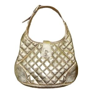 Burberry Gold Quilted Hobo bag w/ Receipt